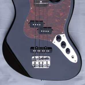 Fishbone  CJB-400 Classic Bass Guitar Jet Gloss Black Jazz Style + Hardshell Case made 4 this Bass for sale