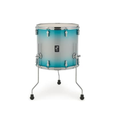 "Sonor AQ2 Maple 12"" (Depth) x 13"" (Diameter) Floor Tom - Aqua Silver Burst"