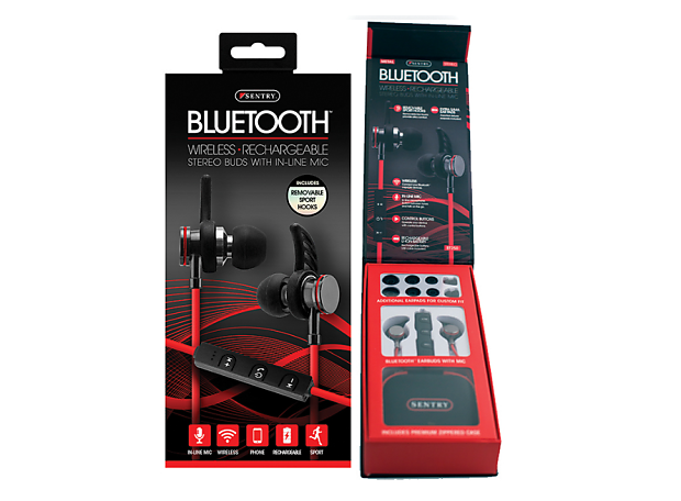 1791dd7ced6 Description; Shop Policies. Sentry BT250 Bluetooth Stereo Earbuds with Microphone  Red