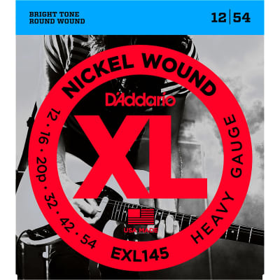 D'Addario EXL145 Nickel Wound Heavy Plain 3rd Set