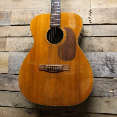 Kasuga F-80 Vintage 70's MIJ Japanese Acoustic Guitar, imported w/ gig bag for sale