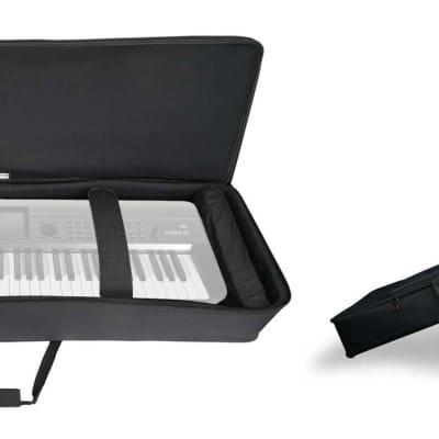 Rockville 76 Key Keyboard Case w/ Wheels+Trolley Handle For Korg Krome EX-73