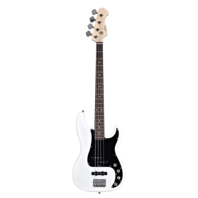 Artist Vintage Hybrid P-J styled Bass White for sale
