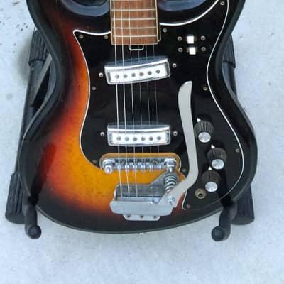 Vintage Japanese Made Teisco/Kawai/Hy-Lo 60's Sunburst Guitar for sale