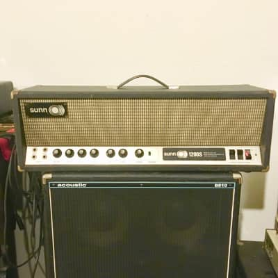 O)) Sunn 1200-s c 1969 1970 original vintage USA bass guitar amplifier