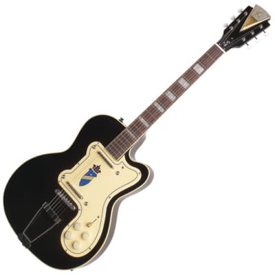 "Kay Refurbished Reissue  ""Thin Twin"" Electric Guitar - K161VBK Black (Guitar Only)"