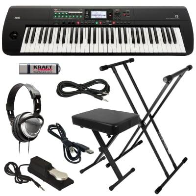 KORG i3 Music Workstation - Matte Black - Key Essentials Bundle