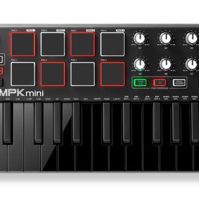 Akai Professional MPK mini MKII Compact USB MIDI Keyboard and Pad Controller Black Limited Edition