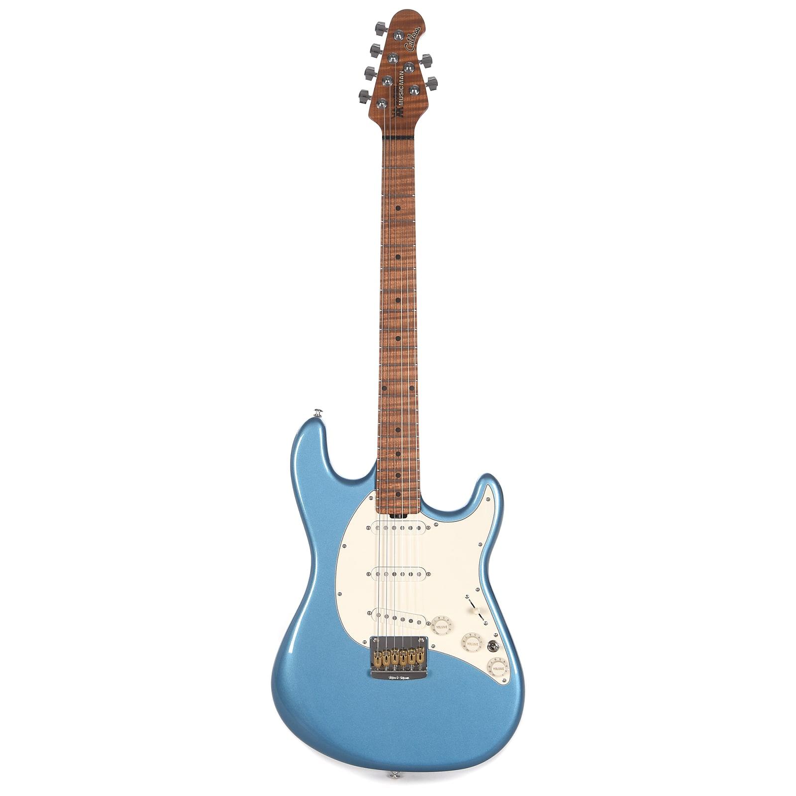 Music Man Signature Hunter Hayes Cutlass Guitar Lake Tahoe Blue w/Roasted Figured Maple Neck