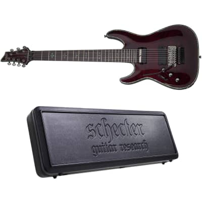 Schecter Hellraiser C-7 FR S LH Black Cherry BCH 7-String Left-Handed Electric Guitar + Hard Case for sale
