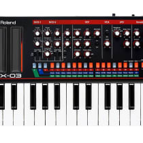 Roland Boutique Series JX-03 with K-25m Keyboard 2010s Black image