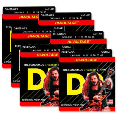 6 Sets! DR Strings DBG-9/46 Dimebag Darrell Hi-Voltage Light-Heavy 9-46