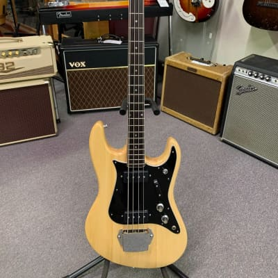 Dorado Electric Solid Body Bass Guitar 1970s Natural for sale