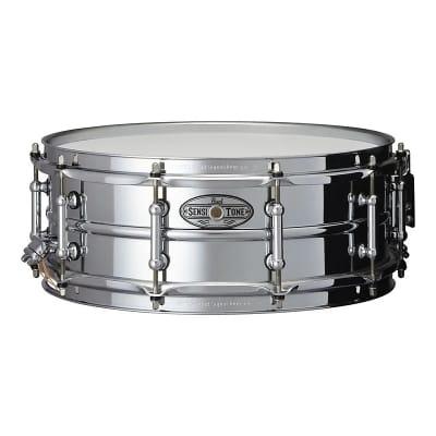 "Pearl STA1450S 14x5"" Sensitone Steel Snare Drum w/ Tube Lugs"