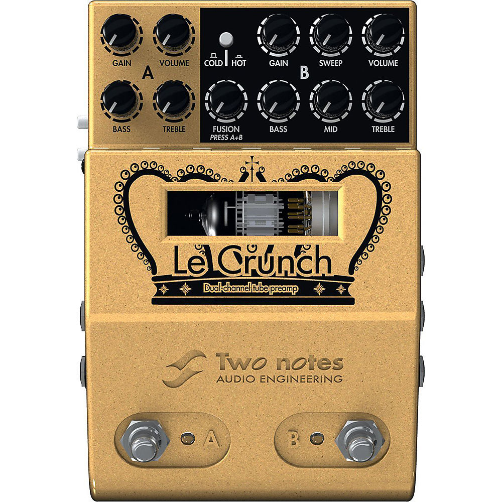 two notes le crunch dual channel tube preamp reverb. Black Bedroom Furniture Sets. Home Design Ideas