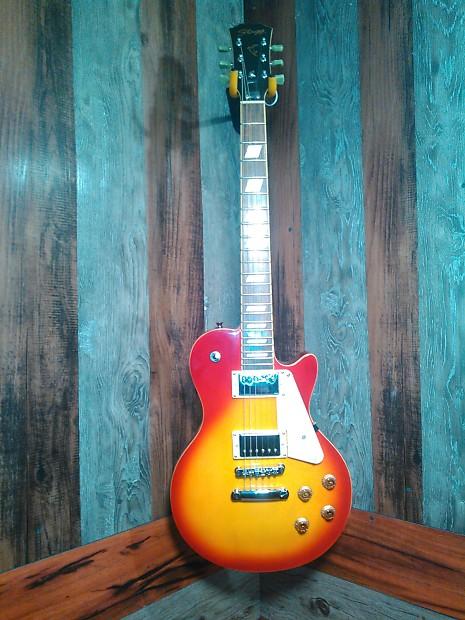 stagg les paul style cherry sunburst electric guitar w gig reverb. Black Bedroom Furniture Sets. Home Design Ideas