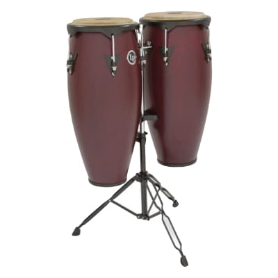 Latin Percussion City Series Conga Set with Stand in Darkwood Finish