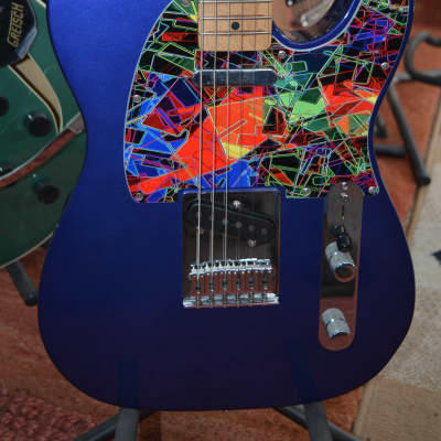 Fender Telecaster in Metallic Blue w/Abstract Pickguard, Straplocks & Mint Gator HSC & recent Set-up for sale