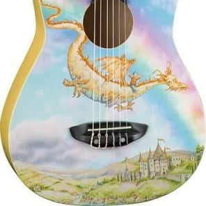 Luna AR2 NYL DRAGON Aurora 1/2 Acoustic Guitar, Nylon Dragon for sale