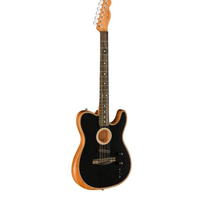 Fender Acoustasonic Tele Hybrid Acoustic-Electric Modeling Guitar with Three Pickup System