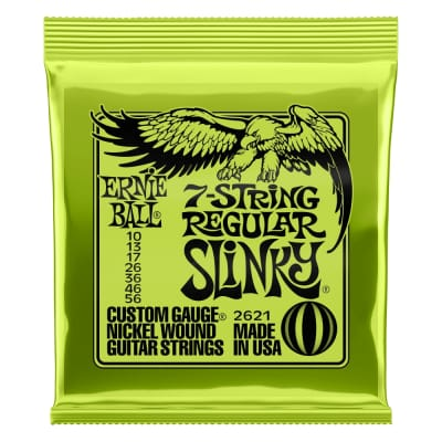 Ernie Ball 7-string Regular Slinky Nickel Wound Gauges .010, .013, .017, .026, .036, .046, .056
