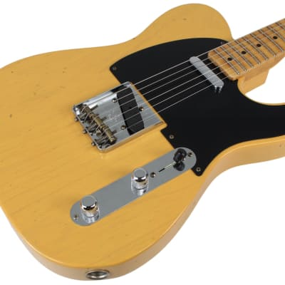 Fender Custom Shop Flash Coat '52 Tele Guitar, Butterscotch Blonde for sale