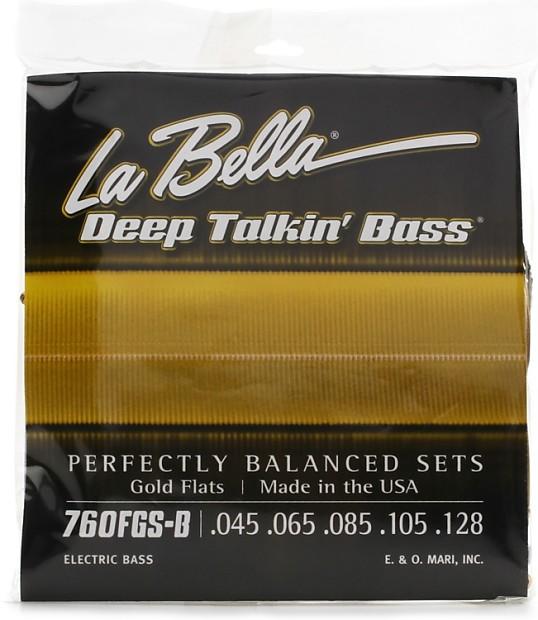 la bella deep talkin 39 bass gold flats electric bass reverb. Black Bedroom Furniture Sets. Home Design Ideas