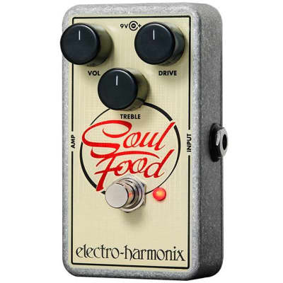Electro Harmonix Soul Food Transparent Overdrive Pedal for sale