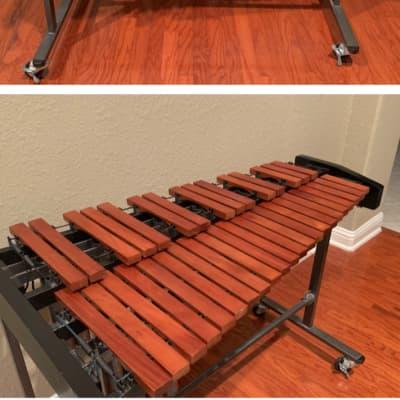 Marimba + Mallets + drum pad + drum sticks