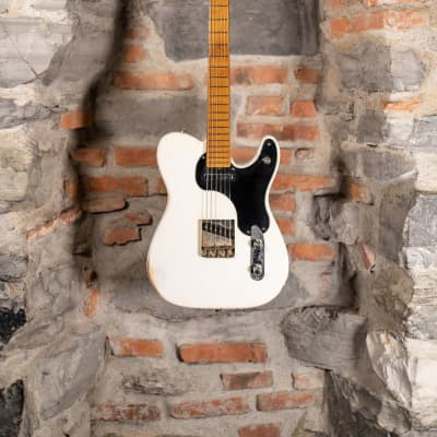 Shabat Lion Telecaster White Blonde Custom Made in USA for sale