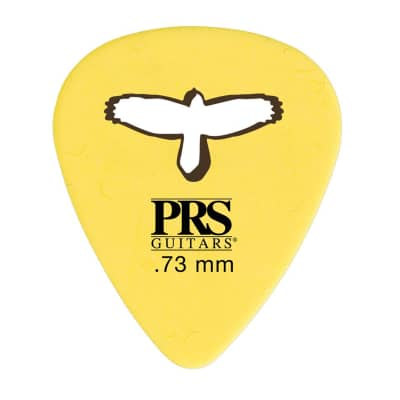 PRS Delrin Punch Picks Yellow 0.73mm 4 Pack (48) Bundle