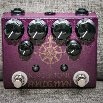 Analogman King of Tone V4 with Red Side High Gain (2015)(w/Box) - Ships Fast!