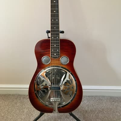 Clinesmith  Maple Dobro (sq neck) 2012 Tobacco Burst for sale