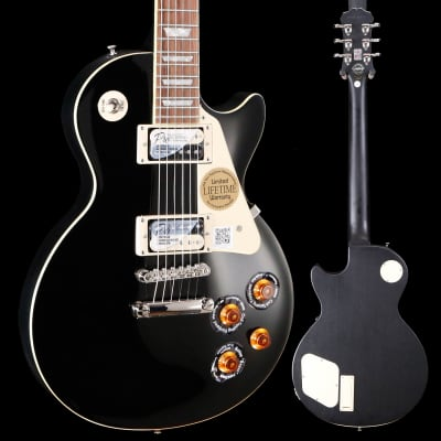Epiphone ENT2EBSNH3 Limited Ed Les Paul Traditional PRO-II, Ebony 435 8lbs 1.1oz for sale