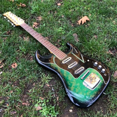 Burns  Baldwin Double Six  1965  Green sunburst for sale