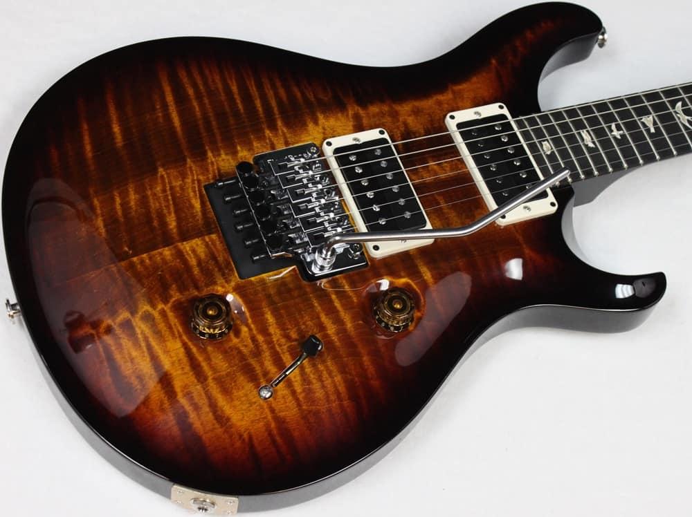 prs custom 24 floyd rose electric guitar w hsc black gold reverb. Black Bedroom Furniture Sets. Home Design Ideas