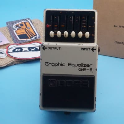 Boss GE-6 Graphic Equalizer   Rare 1979 Japan Silver Screw   Fast Shipping!