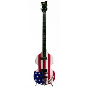Hofner HCT-500/1-USA Contemporary Beatle Violin Bass American Flag