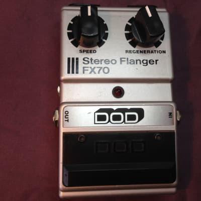 DOD FX70 Stereo Flanger 1982 Black/Silver for sale
