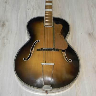 vintage W. Hüttl  archtop JAZZ GITARRE Germany Schlaggitarre Jazzgitarre Germany 1960 for sale