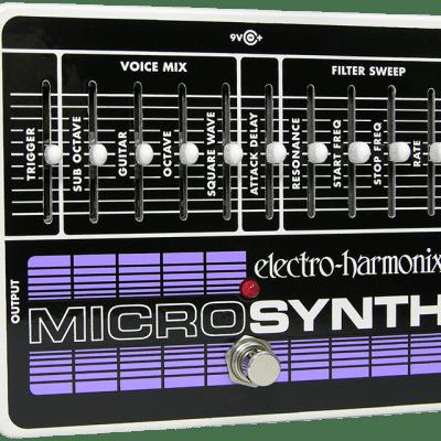 New Electro-Harmonix EHX MicroSynth Analog Guitar Microsynthesizer Pedal!