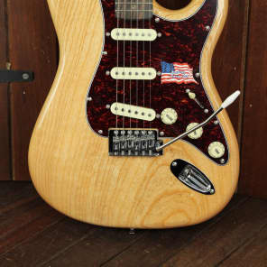 SX Vintage Style Ash Body Electric Guitar Natural for sale