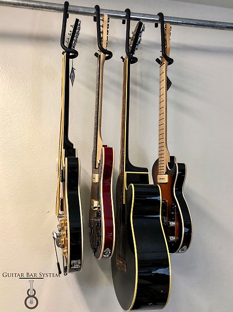 Guitar Bar Hanger Display Electric Acoustic 4 String Base Banjo Mandolin... Closet, Rack Or Custom.