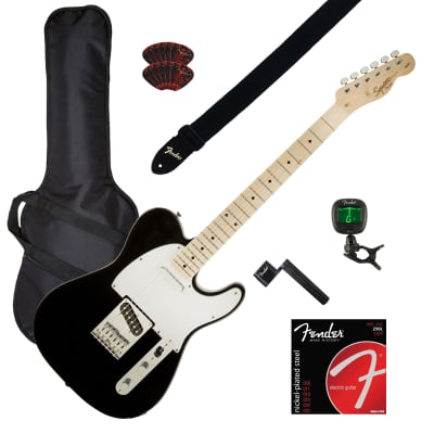 Fender Squier Affinity Telecaster - Black GUITAR ESSENTIALS BUNDLE for sale