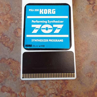 Korg PSU-200 707 Synthesizer Programs Card