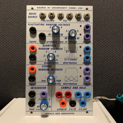 "Buchla format 266 Source of Uncertainty ""Garage Sale"" panel Roman F Circuit"