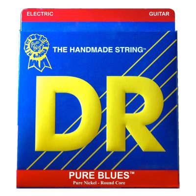 DR Strings Pure Blues Nickel Electric Guitar Strings, 11-50, PHR-11, Heavy