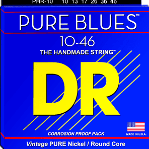 DR PHR-10 Pure Blues Electric Guitar Strings (10-46)