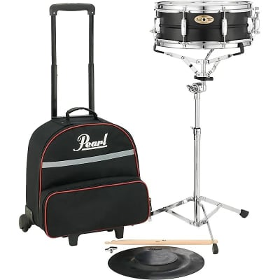 """Pearl SK910C 14x5.5"""" Educational / Student Snare Drum Kit with Rolling Case"""