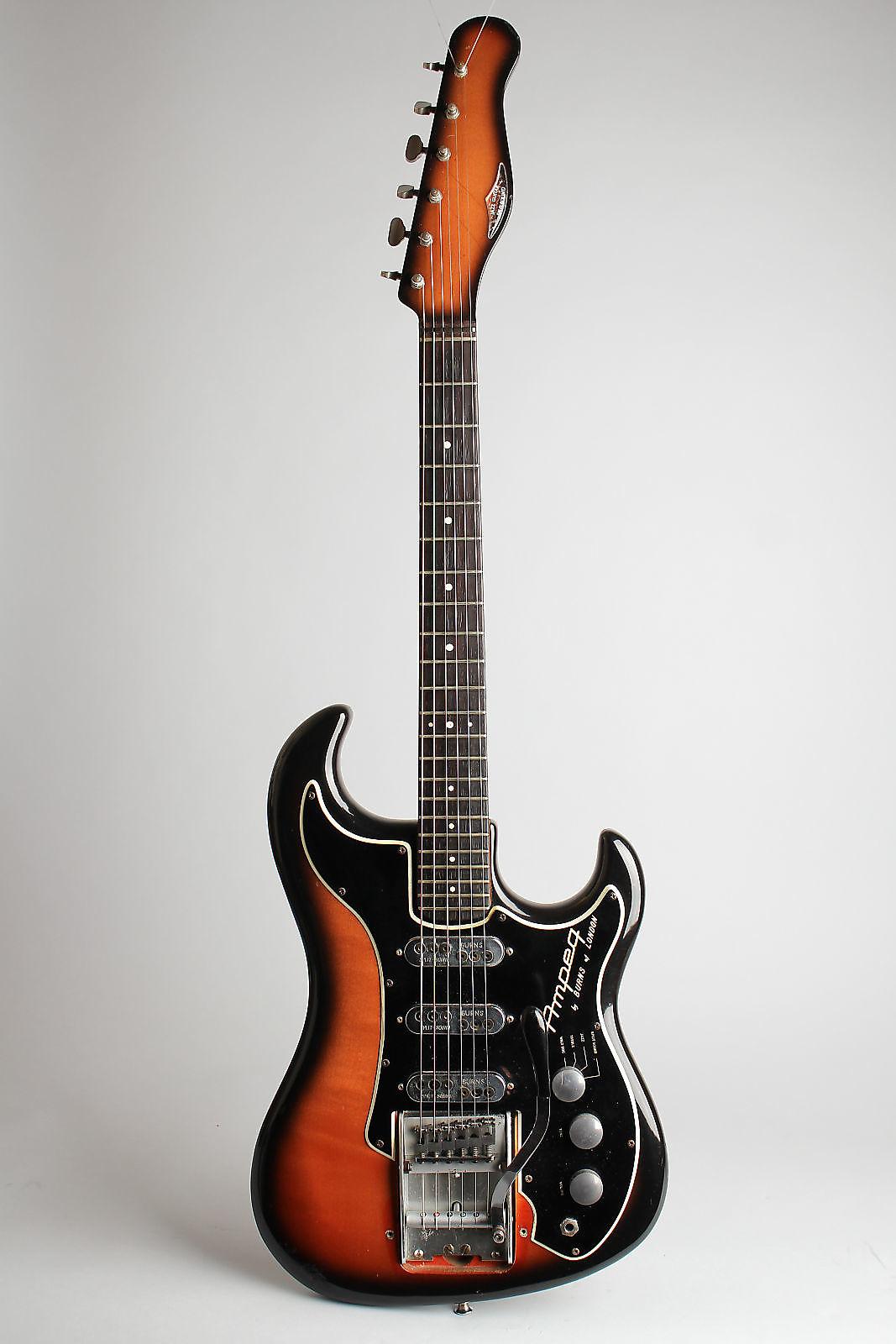 Ampeg Wild Dog EG-1S Jazz Split Sound Solid Body Electric Guitar,  made by Burns (1964), ser. #5031, original blue check tolex hard shell case.